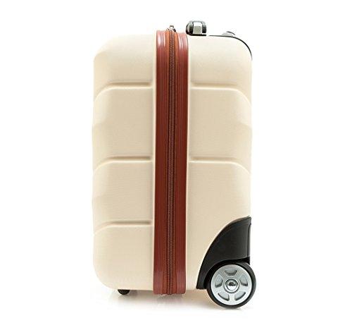 WITTCHEN Reisekoffer Trolley 17 Koffer Bordgepäck Handgepäck, 42x32x25 cm, Weiß, 25 Liter, Größe: klein, XS, Bordgepäck, Handgepäck, ABS, 56-3A-281-88 - 2