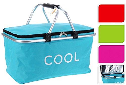 Kühltasche - Einkaufstasche - Einkaufskorb - Picknick Korb Kühlkorb Kühlbox 35 L pink