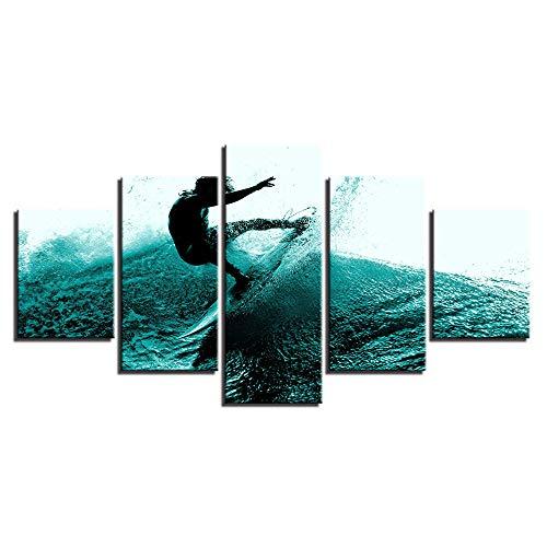 Comecong Dekorative Malerei,HD-Inkjet-Multi-Seascape-Wellenkunst, die Hauptschlafzimmermode-Nachttischhintergrund Malt, der 12 Malereikern 20x35cmx2 20x45cmx2 20x55cmx1 Malt