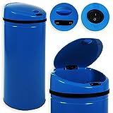 Kesser® Sensor Mülleimer ✓ Automatik ✓ Abfalleimer ✓ Abfall | Edelstahl | Farbe: Blau | Größe: 40 L