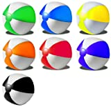 R5G1 Wasserball Strandball aufblasbar ca. 26cm Durchmesser Wasserspielzeug G1 (R534 Orange-Weiss)