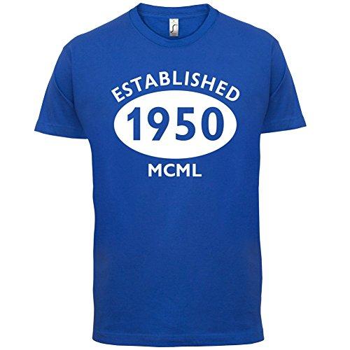 Gegründet 1950 Römische Ziffern - 67 Geburtstag - Herren T-Shirt - 13 Farben Royalblau