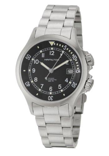 Men Hamilton h77515143Breaker quandrante Blue Strap Stainless Steel Watch