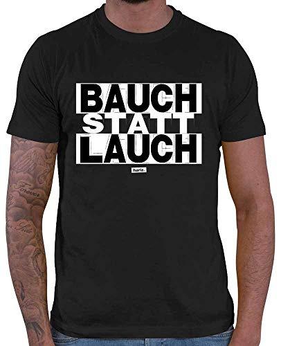 HARIZ  Herren T-Shirt Bauch Statt Lauch Sprüche Schwarz Weiß Inkl. Geschenk Karte Schwarz M