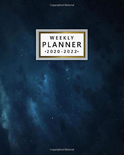 Weekly Planner 2020-2022: Amazing Night Sky Three Year Daily Planner & Schedule Agenda with Weekly Spread Views - Pretty Stars 3 Year Organizer with Notes, Vision Boards, Inspirational Quotes & More
