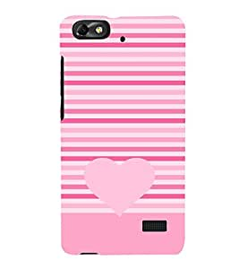 Love Heart Design 3D Hard Polycarbonate Designer Back Case Cover for Huawei Honor 4C :: Huawei G Play Mini