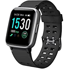 Idea Regalo - YAMAY Smartwatch Orologio Fitness Uomo Donna Impermeabile IP68 Smart Watch Cardiofrequenzimetro da Polso Contapassi Smartband Activity Tracker Bambini Cronometro per Android iOS