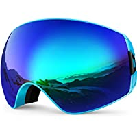 29928e73df Zionor Lagopus X7 Ski Goggles with Fast Lens-changing UV400 Protection Anti- fog Wide