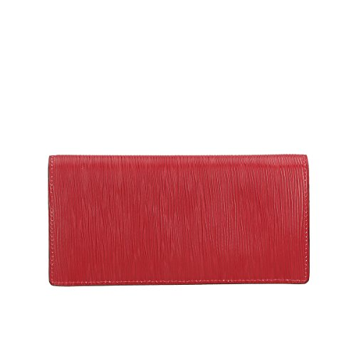 Leather Chicca pelle in Portafogli Genuine Rosso 100 20x10x4 Borse WrBgqrn