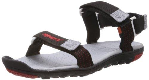 Sparx Men's Black Nylon Athletic & Outdoor Sandals