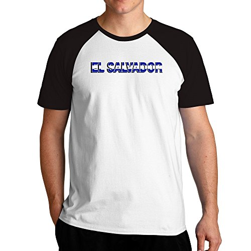 Eddany El Salvador country flag Raglan T-Shirt (El T-shirt Salvador Flag)
