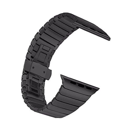 42mm Edelstahl Replacement Watchband Strap Uhrenarmband Erstatzband Watch Band für Apple Watch Series 1 / 2 (Training-band Nano Ipod Für Den)