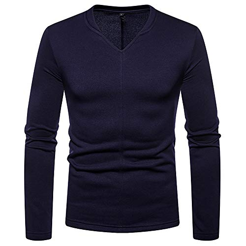 TWBB Herren Bekleidung Gebürstet Sweatshirt Warme Langarmshirt Pullover Warm Oberteile Tops