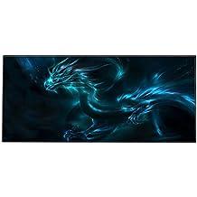 Silent Monsters 1003002201 - Alfombrilla de ratón para gaming, XXL (900 x 400 x 3 mm), diseño Dragon, multicolor