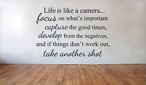 Das Leben ist wie eine Kamera Fokus erfassen entwickeln nehmen Sie einen weiteren Schuss Vinyl Wall Decal Familie Decor Wall Decor Vinyl Aufkleber Zitat Home Decor - Eine Wie Das Leben Kamera Ist
