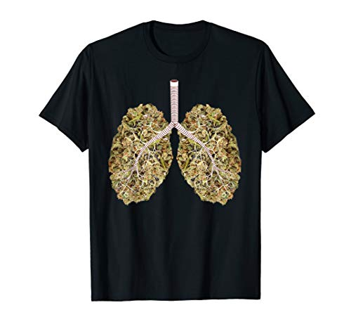 Marihuana-Lungen-Atmungssystem Shirt - Tupfer-system