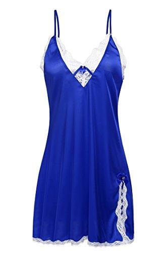 Ekouaer Sexy Lingerie Women's Sleepwear Satin Lace Chemise Nightgown XS-XXL - 41FJvPbCCVL - Ekouaer Sexy Lingerie Women's Sleepwear Satin Lace Chemise Nightgown XS-XXL