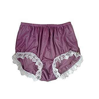 d37669a79eebd9 NNH24D14 Deep Pink Lace Handmade Briefs Nylon New Knickers Panties ...