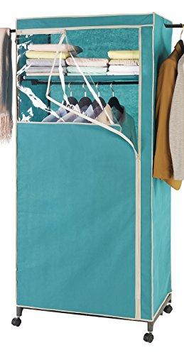 Wenko 86354500 Kleiderschrank 2in1 Breeze-mit Garderobenarmen und Ablage, Polypropylen, 75