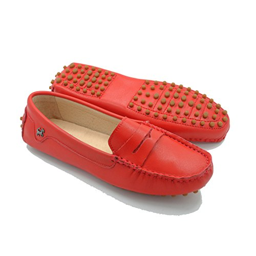 Minitoo, Punta chiusa donna Smooth Leather-Red