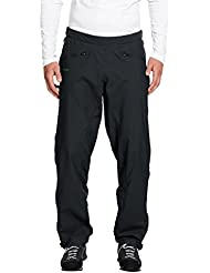 VAUDE Men/Women Lluvia Pantalones lierne Full Zip Pants, unisex, color negro, tamaño XS/S