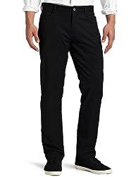 Calvin Klein Mens Slim Fit 4-Pocket Stretch Sateen Pant, Black, 40W 32L