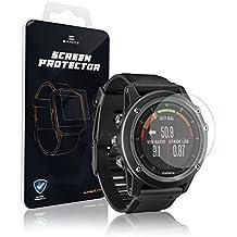 EXINOZ® Garmin Protector para pantalla | Alta calidad con 1 año de garantía de reemplazo |Lo mejor para su Smart Watch de Garmin (Vivoactive)
