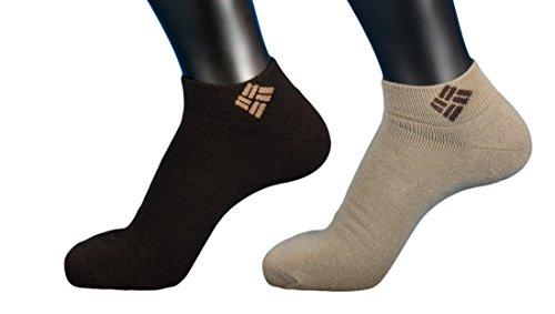 Columbia Explorer Chaussettes de sport Femme Marron/Beige, 2 Paires, : chaussettes : 35-38 (Taille Fabricant : 35-38)
