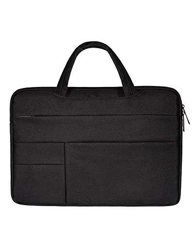 Laptophülle Hülle Sleeve Case Etui Notebook Schutzhülle Canvas-Gewebe Tasche Schwarz 14