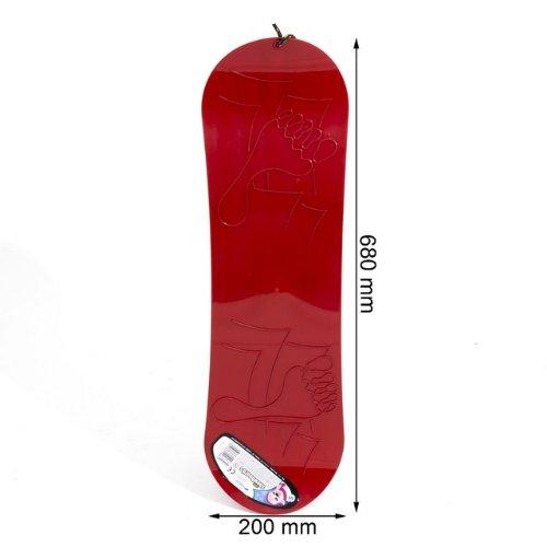 Schneegleiter SNOWBOARD Kunststoff rot