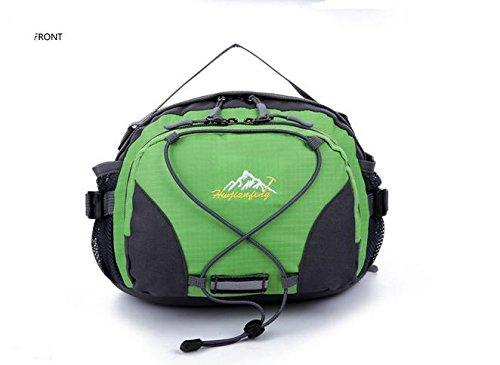Zll/multifunzione tasca maschio Rides Corsa Bottiglia tasche in nylon Outdoor da donna, borsa, Rosso verde