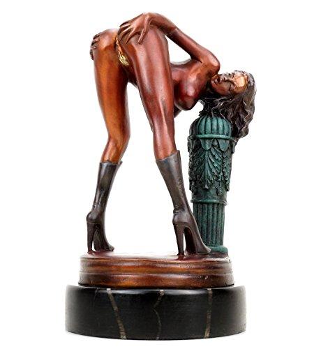 Kunst & Ambiente - Erotik Girl Lola in High Heels - signiert J. Patoue - Erotikfigur - Frauenakt - Erotische Sex Bronzefigur - Erotik Skulptur - Sexy Figuren und Skulpturen kaufen - Akt Skulptur