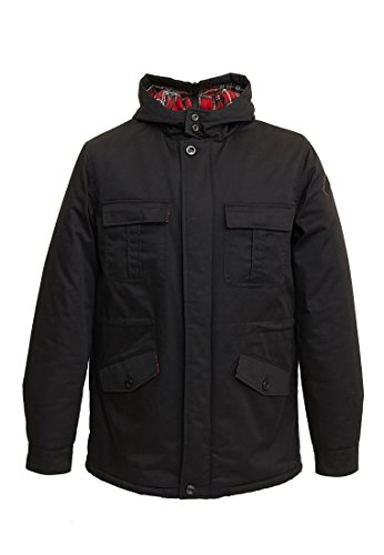 Harrington Parka Mods, Giubbotto Uomo, Nero, Medium