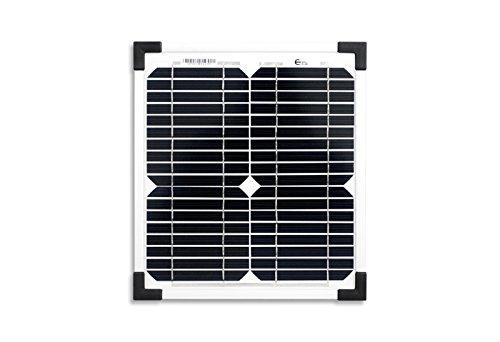 enjoysolar® monokristallin 10W 12V Módulo Solar Panel Solar Mono 10W IDEAL PARA Jardín Autocaravana Caravan (precio: €)