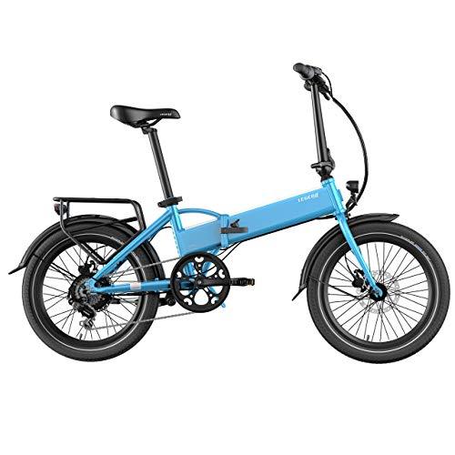 LEGEND EBIKES Monza 36V10.4Ah Bicicleta Eléctrica Plegable, 25 Km/h, Unisex Adulto, Azul Steel, Talla Única