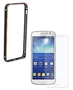 MOBIMAX Premium Aluminium Bumper Case For Samsung Galaxy S6 -Black with Tempered Glass
