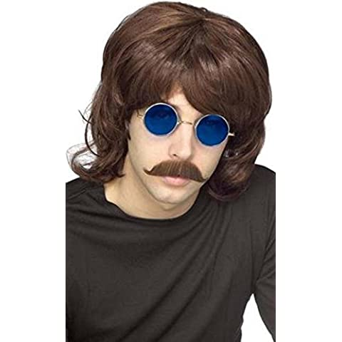 Disponibile da 1970s Fun Shack-Parrucca da Disco anni '70, Night Fever-Costume per feste, motivo: capelli artificiali