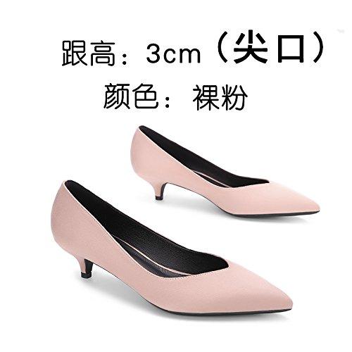 FLYRCX La primavera e l'estate tacchi di brevetto con una bella signora scarpe a punta pelle sexy bocca poco profonda scarpa scarpe.,34,n