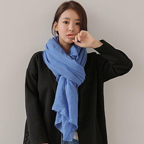 OME&QIUMEI Baumwolle Und Leinen Schal Schal Und Alle-Match Weiblich Jeans Blau All American Jeans
