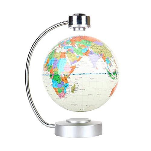 Globo terráqueo flotante, magnético, para mesa de oficina, planeta que levita y rota, con mapa del mundo, idea como regalo genial y educativo para él, esfera de 20 cm con soporte de levitación