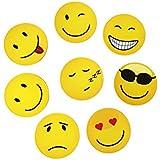 Magnete Smiley, Emoji, 8 Stück im Set, Kühlschrankmagnete, witzige gute Laune Magnete