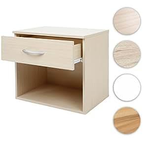 Miadomodo Comodino moderno camera da letto ca. 42/30/37,5 cm colore faggio set da 1