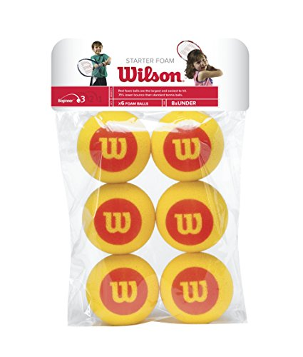 Wilson Kinder Tennisball Starter Foam, rot/gelb (Play-und Stay-tennis-ball)