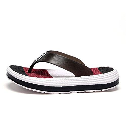 H-Mastery Chanclas Ligeras Mujer Playa Piscina Sandalias de Verano Flip Flops Zapatos(Negro,talla41)