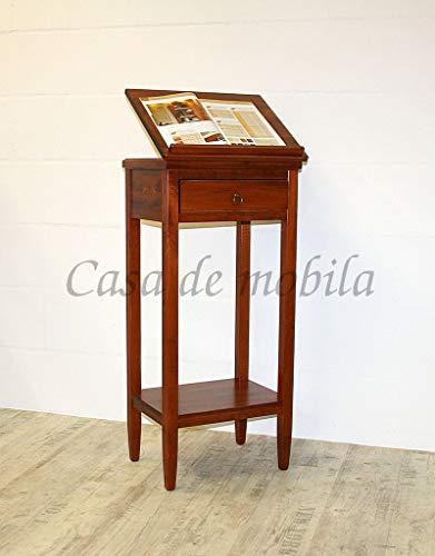 Casa Rednerpult Rednerpult 127 cm kirschbaumfarben Stehpult rotbraun Lesepult