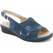 Sandalias mujer marca PITILLOS piel grabada color azul marino - 1013 - 566  Color Perla (Napa bombeada)  Talla única YPGpYVq