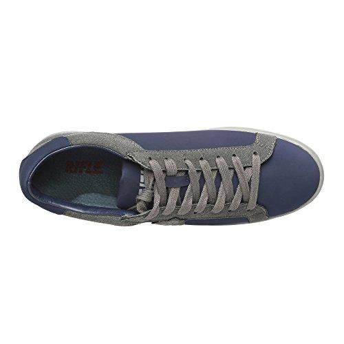 RIFLE Chaussures Homme Baskets, Plates Avec Lacets. mod. 162-M-363-456 Bleu - Gris foncé