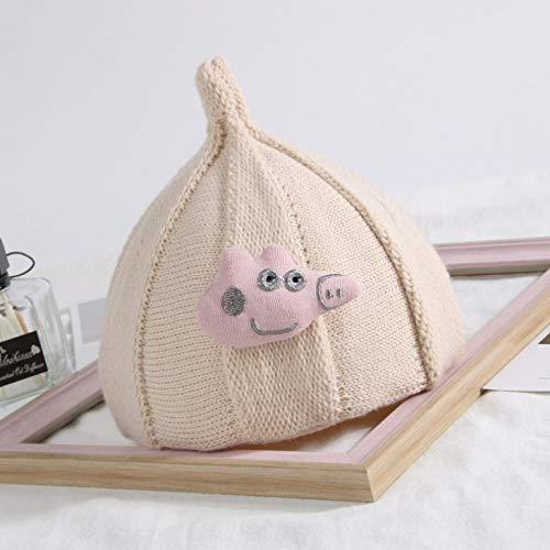 �r Kinder,Warmes Baby des niedlichen doppelten Haarballbärnbabybabyhutkindkindes der Kinder, Schweinmodellbeige, eine Größe ()