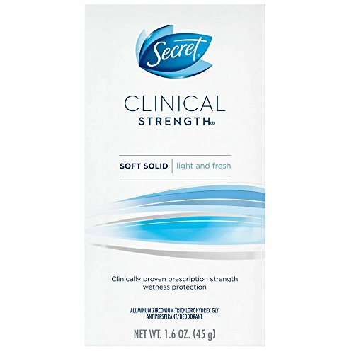 Secret Clinical Strength Advanced Solid Antiperspirant and Deodorant Light And Fresh Scent 1.6 Ounce by Secret
