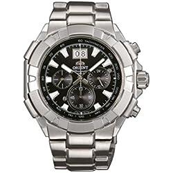 Orient–Reloj de pulsera Cronógrafo Cuarzo Acero inoxidable ftv00003b0
